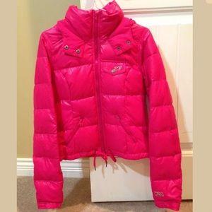 Women's Pink Hollister Puffer Jacket